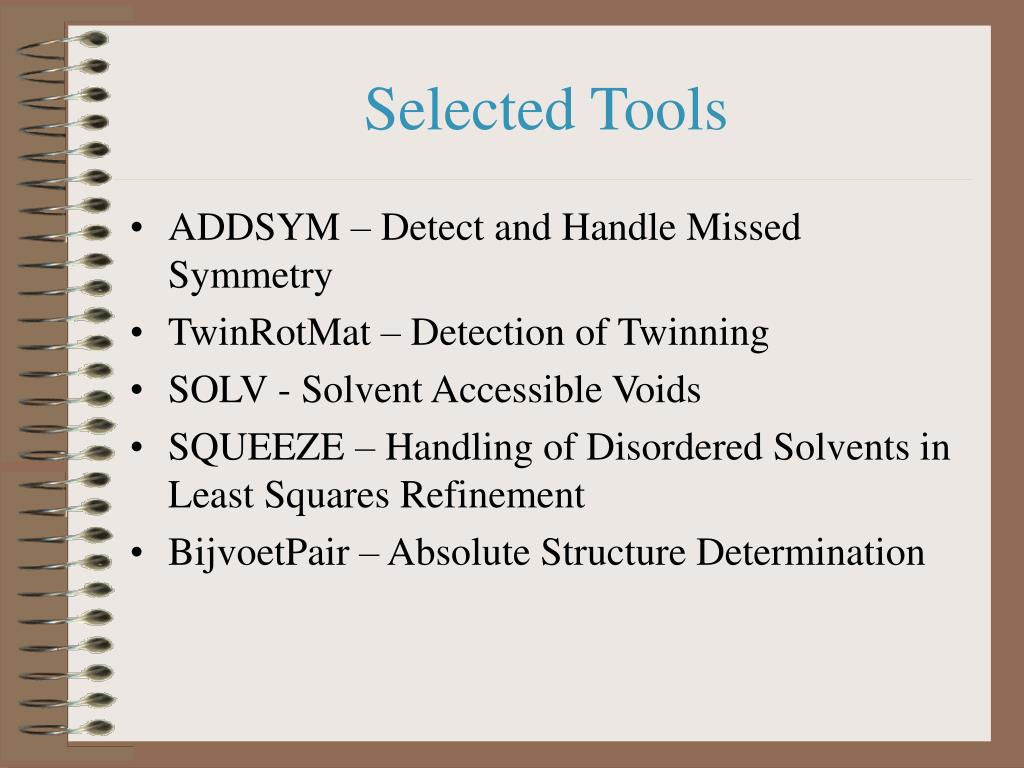 Selected Tools