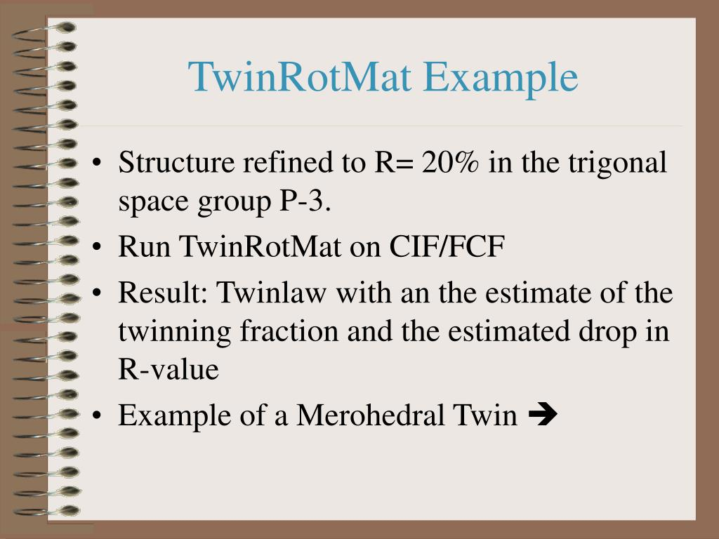 TwinRotMat Example