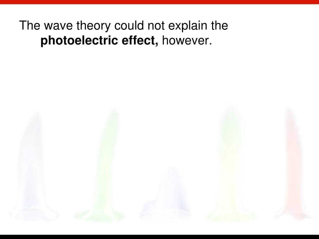The wave theory could not explain the