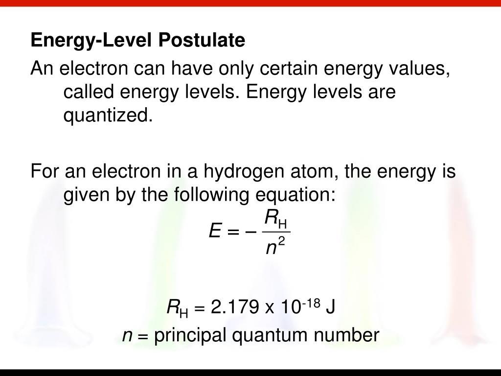 Energy-Level Postulate