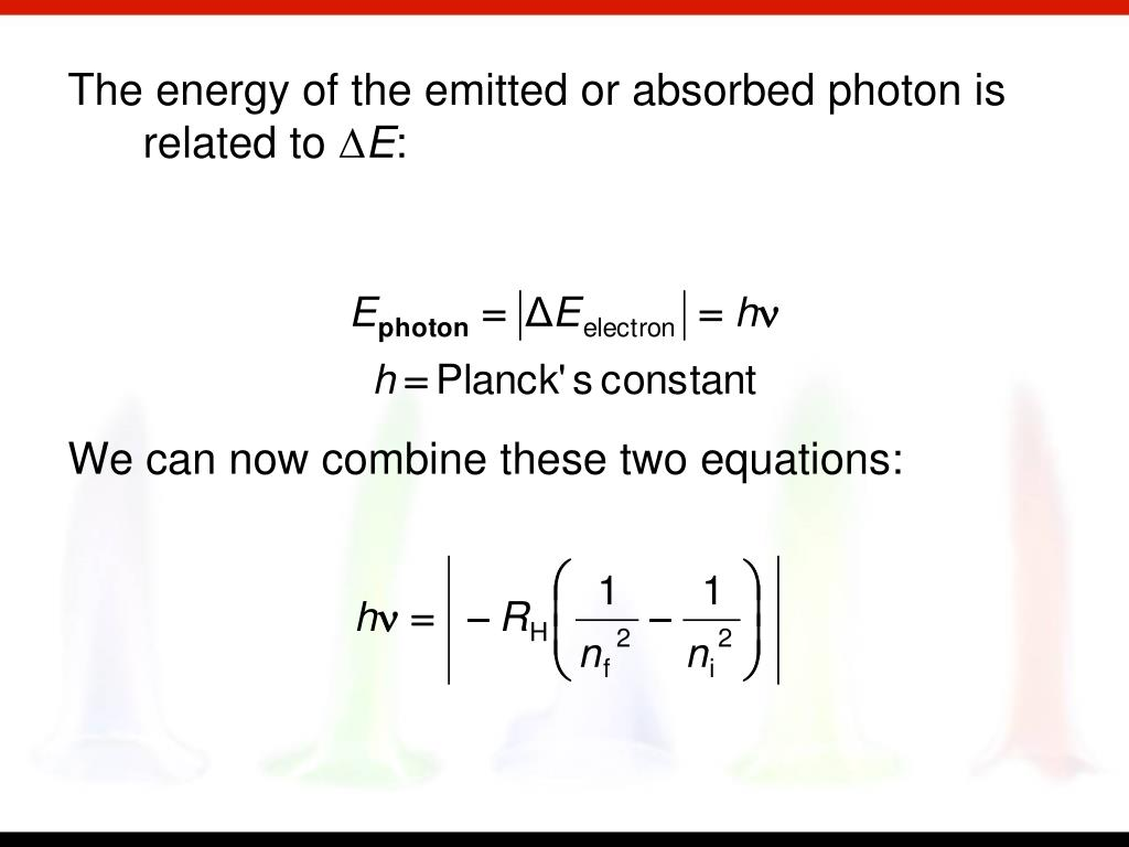 The energy of the emitted or absorbed photon is related to