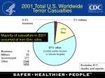 2001 total u s worldwide terror casualties