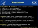 blast abdomen