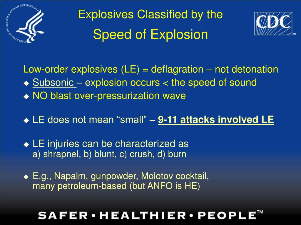 Explosives Classified by the