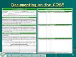documenting on the cosf