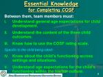 essential knowledge for completing cosf