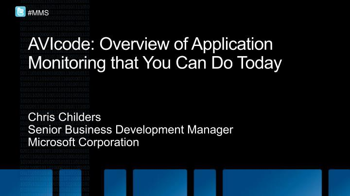 Avicode overview of application monitoring that you can do today