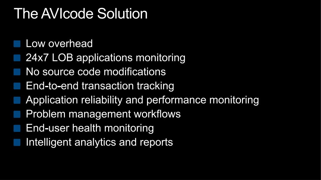 The AVIcode Solution