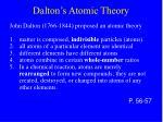 dalton s atomic theory