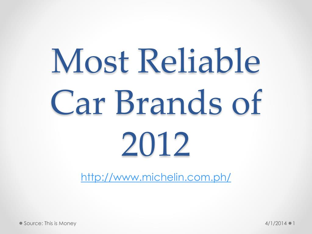 most r eliable car brands of 2012 l.