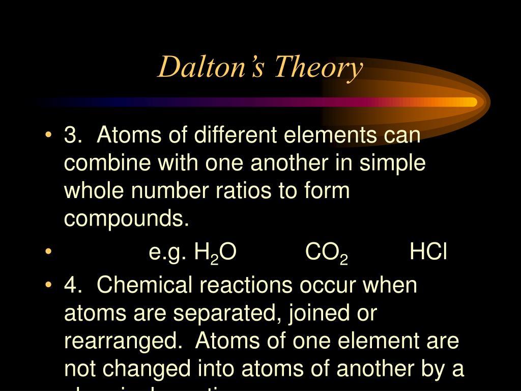 Dalton's Theory