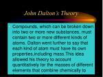 john dalton s theory