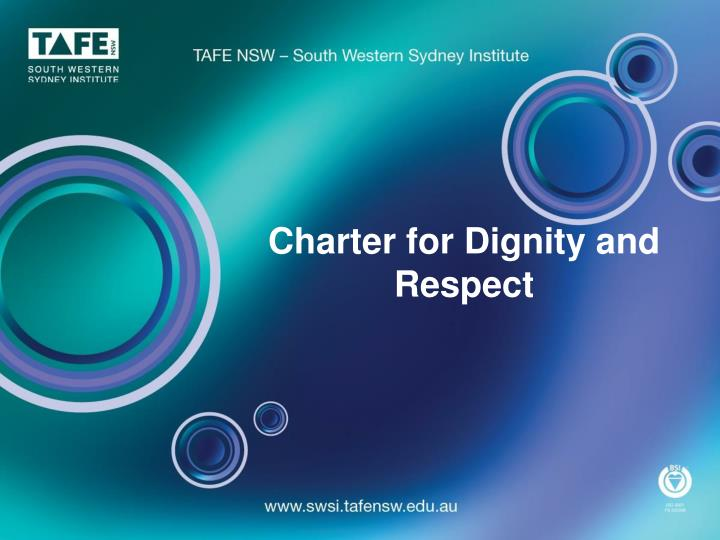 charter for dignity and respect n.