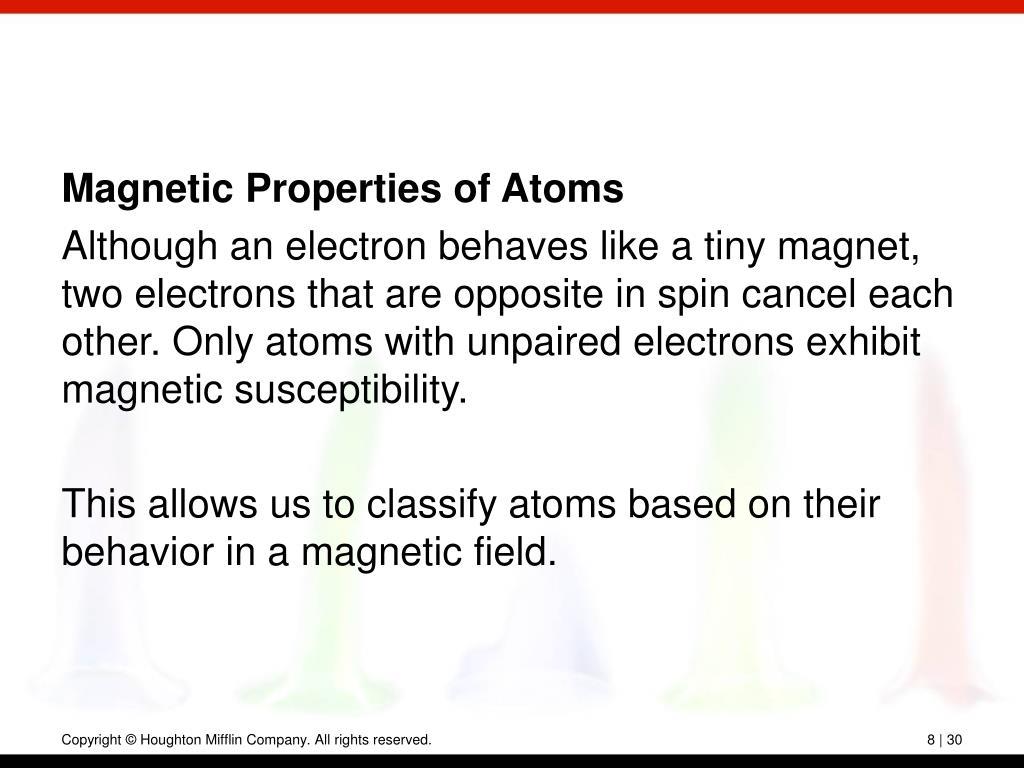 Magnetic Properties of Atoms