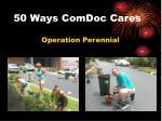 50 ways comdoc cares14