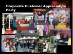 corporate customer appreciation party