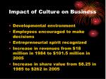 impact of culture on business