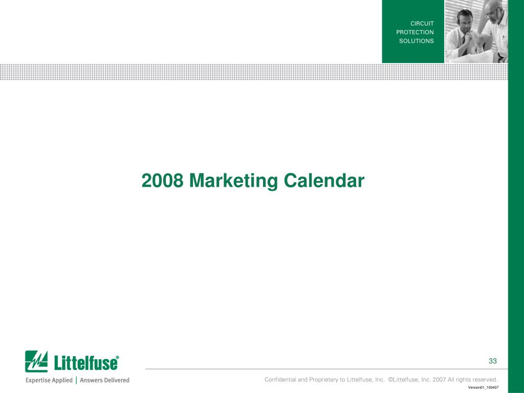 2008 Marketing Calendar