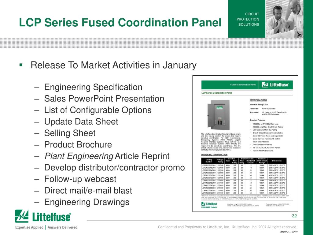 LCP Series Fused Coordination Panel