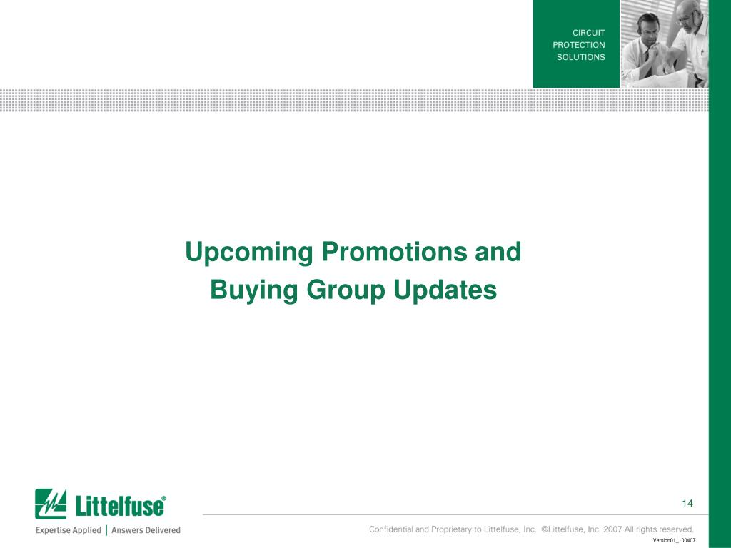 Upcoming Promotions and