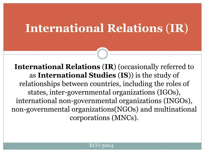 International relations ir