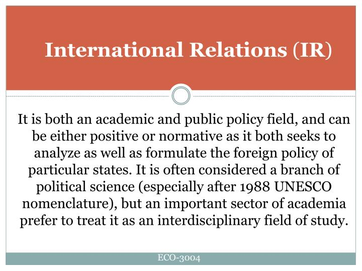 International relations ir3