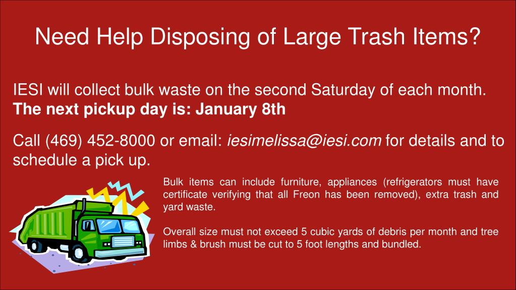 Need Help Disposing of Large Trash Items?