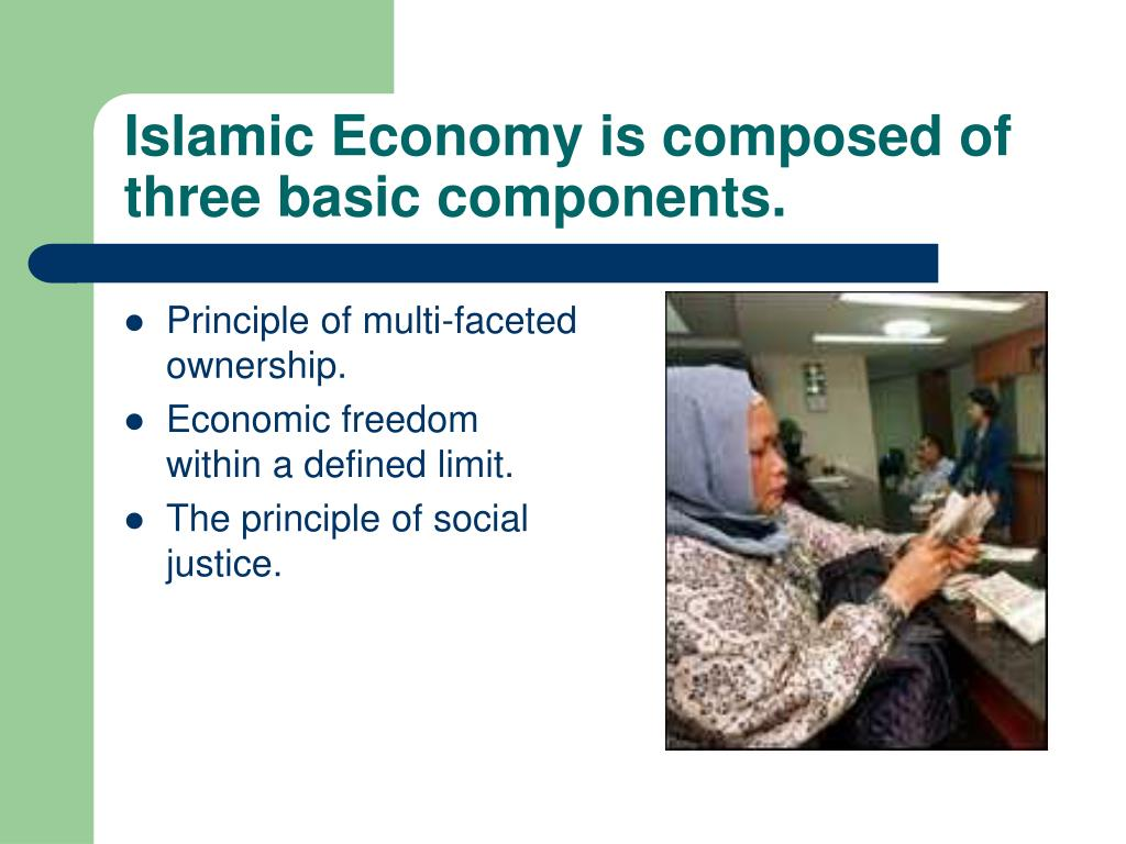 Islamic Economy is composed of three basic components.