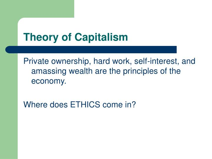 Theory of capitalism