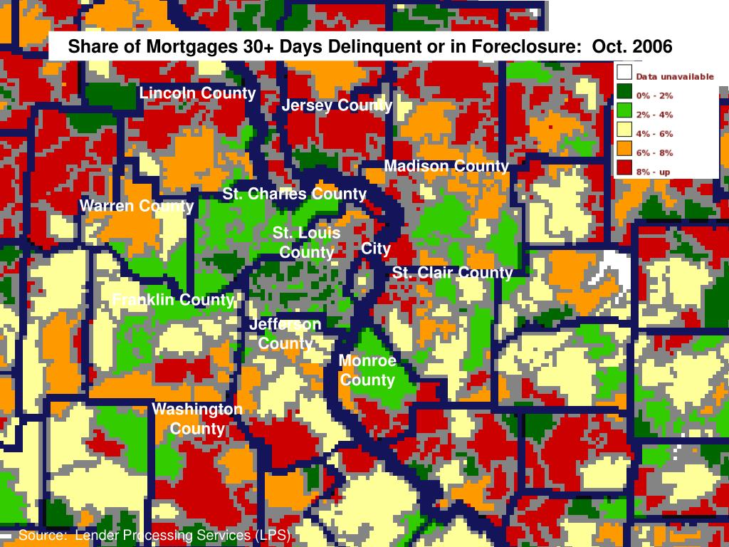 Share of Mortgages 30+ Days Delinquent or in Foreclosure:  Oct. 2006