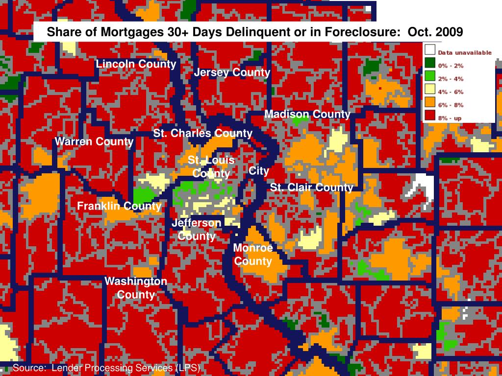 Share of Mortgages 30+ Days Delinquent or in Foreclosure:  Oct. 2009