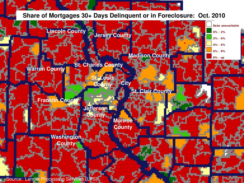 Share of Mortgages 30+ Days Delinquent or in Foreclosure:  Oct. 2010