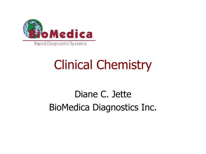 clinical chemistry n.