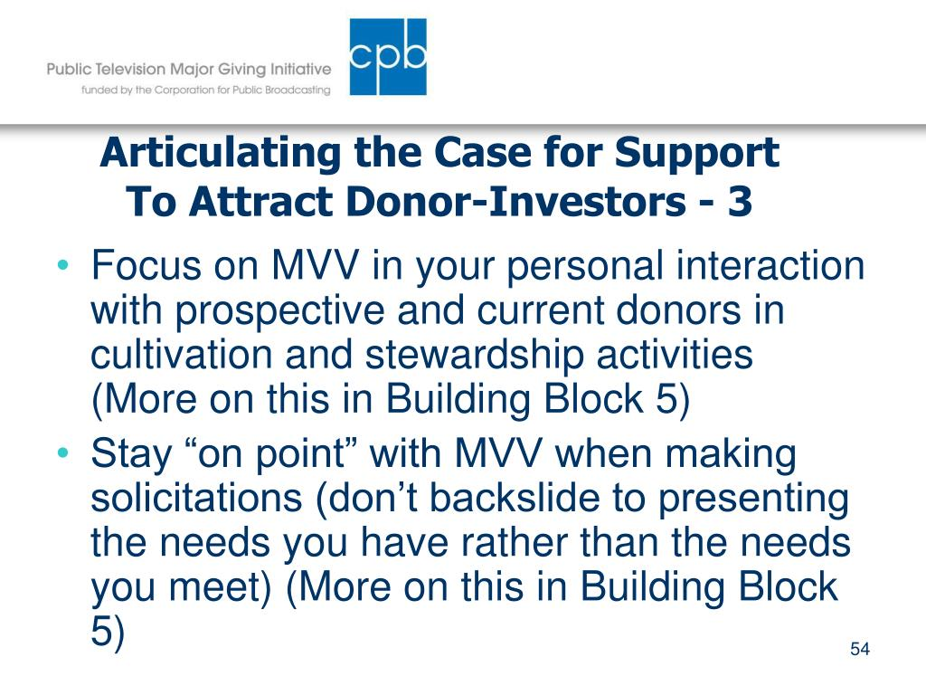 Articulating the Case for Support