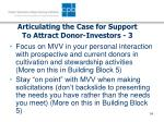articulating the case for support to attract donor investors 3