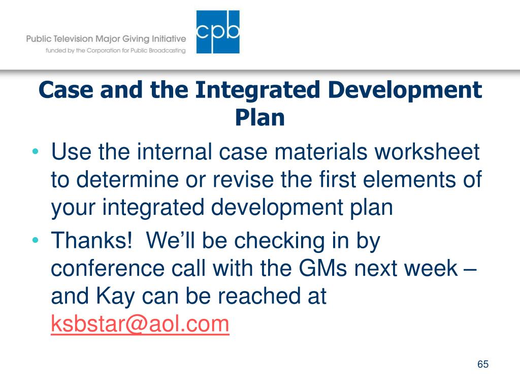 Case and the Integrated Development Plan