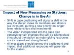 impact of new messaging on stations change is in the air
