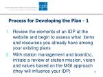 process for developing the plan 1