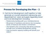 process for developing the plan 2