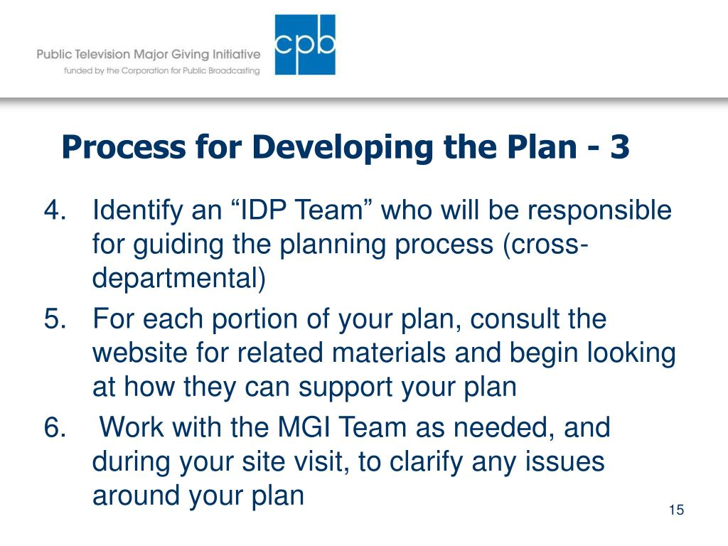 Process for Developing the Plan - 3