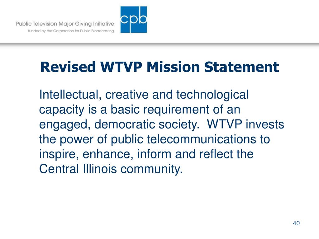 Revised WTVP Mission Statement