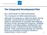the integrated development plan