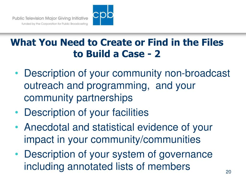 What You Need to Create or Find in the Files to Build a Case - 2