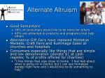 alternate altruism40