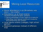 mining local resources42