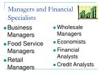 managers and financial specialists