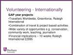 volunteering internationally