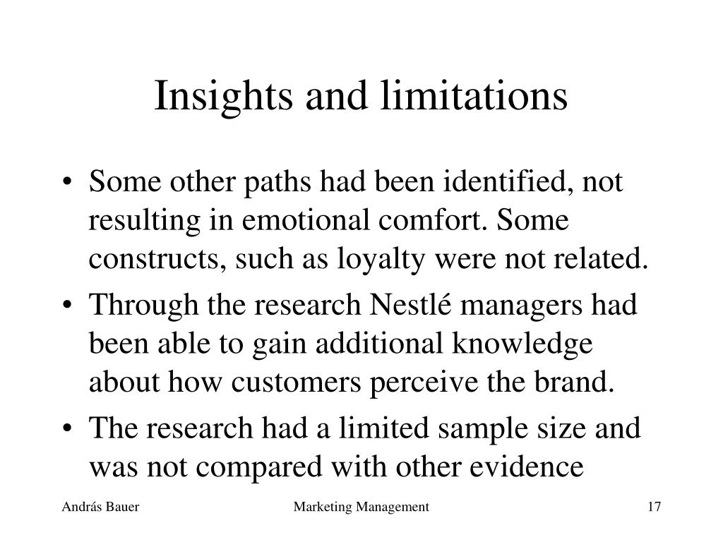 Insights and limitations