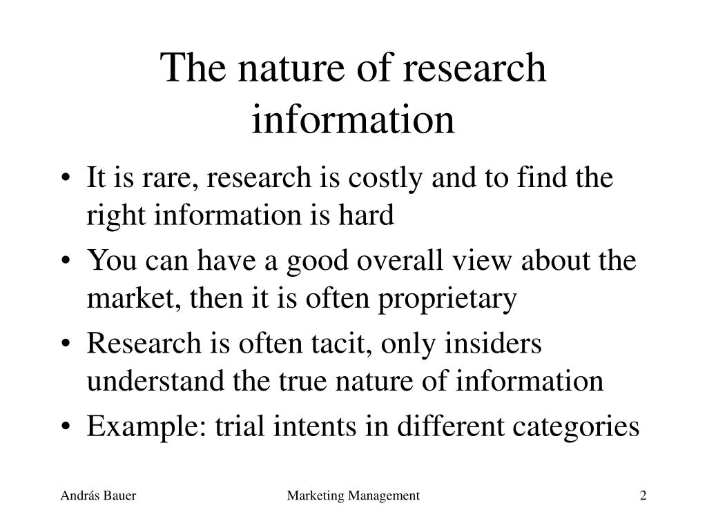 The nature of research information