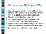 medicare and retirement plan